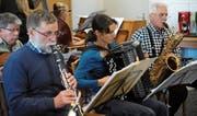 Das UR-Tango-Orchester probt für den grossen Auftritt. (Bild: Urs Hanhart (Altdorf, 1. November 2017))