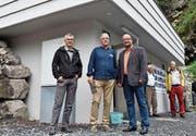 Von links: Marcel Gasser, Fredy Zwyssig und Max Aschwanden. (Bild: Georg Epp (Seedorf, 19. August 2017))
