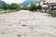 Die Engelbergeraa beim Hochwasser im Oktober 2011. (Bild: Matthias Piazza)