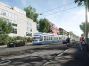 Visualisierung des zukünftigen Rosengartentrams. (Bild: PD)