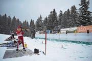 Vergab beim Stehendschiessen den möglichen Sieg: Leander Kiser. (Bild: Lars Kiser (Langis-Glaubenberg, 16. Dezember 2017))