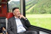 Hans Wicki lässt sein Amt Revue passieren und die Landschaft des Engelbergertals an sich vorbeiziehen. (Bild Martin Uebelhart)