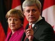 Kanadas Premier Stephen Harper und Kanzlerin Angela Merkel (Bild: Keystone)
