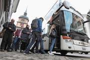 Der Tellbus verzeichnete auch 2016 eine markante Zunahme der Fahrgäste. (Bild: urh (Altdorf, 1. Oktober 2016))
