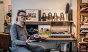 Ein Altar für das «schwarze Gold»: Unser Autor hat die Vorzüge der Vinylplatten wiederentdeckt – wie jenen von Pink Floyd. (Bild: Nadia Schärli (Luzern, 15. Februar 2018))