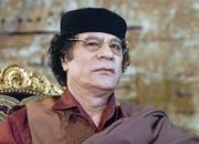 Gelder des ehemaligen afrikanischen Machthabers Muammar al-Gaddafi (Libyen) waren oder sind auf Schweizer Konten eingefroren. (Bild: EPA/AP)