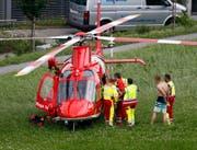 Ein Patient wurde ins Spital geflogen. (Bild: Geri Holdener, Bote der Urschweiz)