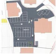 So soll der neue Schulhausplatz in Wassen künftig aussehen. (Bild: Visualisierung: PD)