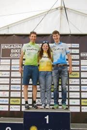Gute Urner Leistungen: Nadia Walker, Patrick Jauch (links) und Patrick Tresch. (Bild: PD)