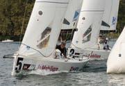 Der Yachtclub Zug (im Vordergrund) wird auch in der neuen Saison in der höchsten Schweizer Liga mitsegeln. (Bild: Felix Aeberli/PD)