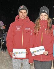 Fiona Christen und Noel Arnold sind die neuen Schulsportmeister. (Bild: Josef Mulle (Urner Zeitung))