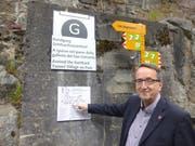 Kilian Elsasser hat den Rundgang durch das Dorf Göschenen konzipiert. (Bild Gerhard Lob)