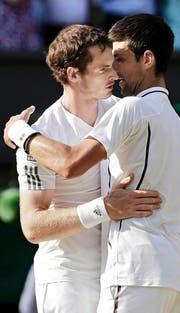 2013 waren sie noch Freunde, als Murray (l.) den Wimbledon-Final gegen Djokovic gewann. (Bild: AP/Anja Niedringhaus)