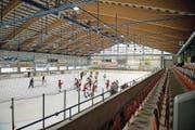 Eishockeyspieler trainieren im Sporting-Park. (Bild: Corinne Glanzmann)