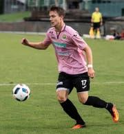 Jérôme Bühler im Testspiel vom letzten Mittwoch gegen seine ehemaligen Kollegen des FC Luzern U 21. Kriens gewinnt 2:1. (Bild Pius Amreint)