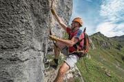 Der Klettersteig Fruttstägä auf Biel-Kinzig. (Bild: Angel Sanchez)