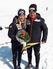 Stefanie Arnold und Roman Furger liefen an den Elite-Meisterschaften insgesamt drei Mal aufs Podest. (Bild: PD (Steg, 24. März 2018))