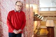 Karl Arnold ist gespannt auf die Möglichkeiten, die ihm die neue Kirchenorgel bietet. (Bild Florian Arnold)