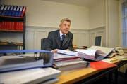 Obergerichtspräsident Albert Müller in seinem Büro. (Bild: Corinne Glanzmann / Neue NZ)