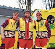 Die Gründer der Ramersberger Dörfli-Geister (von links): Hanspeter Kiser, Florian Müller, Urban Lohner. Bild: Adrian Venetz (Sarnen, 23. Februar 2017)