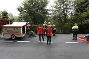 Feuerwehr und Rettungsdienst wurden aufgeboten. (Bild: Geri Holdener)