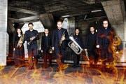 Die jungen Musiker des Lucerne Brass Ensembles überzeugen mit Herzblut, Präzision und Dynamik. (Bild: PD)