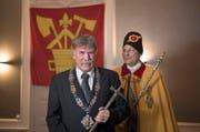 Stolz am Jahresbot der Zunft zu Safran: Der neue Fritschivater Alfred (Fredi) Meier.. (Bild: Corinne Glanzmann, Luzern 30.12.2017)