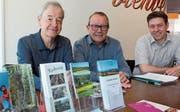 Peter Hägler, Herbert Strebel und Severin Brugger (von links) vom Verein Erlebnis Freiamt.