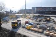Bei der Autobahnausfahrt Stans Nord entsteht eine Strassenabwasser-Behandlungsanlage. (Bild Matthias Piazza)