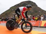 Fabian Cancellara nimmt seine Olympia-Goldfahrt von Rio in Angriff. (Archivbild) (Bild: KEYSTONE/PETER KLAUNZER)