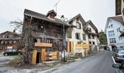 Teile der baufälligen Häuser wurden bereits 1378 erbaut. (Bild: Manuela Jans-Koch (Küssnacht, 22. Februar 2018))