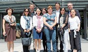 Die Delegation aus China mit Begleitern und Behörden vom Kantonsspital und von Obwalden Tourismus. (Bild: pd)