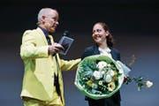 Strahlende Siegerin: Patricia Merz ist die grosse Gewinnerin der 5. Zuger Sportnacht. (Bild: Stefan Kaiser (Steinhausen, 2. Februar 2018))