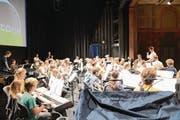 Die Musikschüler bei ihrem Auftritt. (Bild: PD)