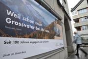 Die Urner Kantonalbank wird 100 Jahre alt und möchte im Rahmen des Jubiläums Förderbeiträge verteilen. (Bild: Urs Hanart)