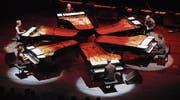 Ein Instrument von kultischer Kraft: «Piano-Circus» an einem früheren Jahrgang des Piano-Festivals im Luzerner Saal des KKL. (Bild: Archivbild Lucerne Festival)