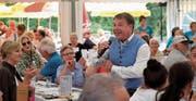 Patrick Lindner sorgt am Alpenschlagerfestival für Stimmung. (Bild: Richard Greuter (Ristis, 27. August 2017))