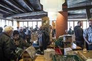 Grossandrang am Rampenverkauf. (Bild: Manuela Jans-Koch (Luzern, 24. März 2018))
