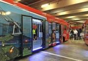 Der mit der Stanser Cabrio-Bahn bebilderte Bus. Bild: PD
