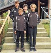 Die vier Teilnehmer des SC Unterschächen; von links: Noel Arnold, Luca Arnold, Josias Muheim und Fiona Christen. (Bild: PD)