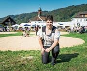 Lucia Iten hat auch am letzten Schwingfest der Frauen im luzernischen Schachen mitgeholfen. (Bild: Roger Grütter (23. September 2017))
