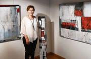 Maria Sialm präsentiert ihr künstlerisches Schaffen im Schloss A Pro. (Bild: Georg Epp (Seedorf, 25. August 2017))