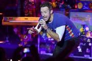 Die Tickets für die zwei Coldplay-Konzerte vom 11. und 12. Juni 2016 waren binnen Minuten ausverkauft. Gehören Sie zu den glücklichen Ticketbesitzern? (Bild: Keystone/EPA/Arne Dedert)