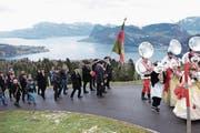 Der Einzug zum Wohnsitz von Niklaus Minder (Bild: Richard Greuter (NZ) (Neue Nidwaldner Zeitung))