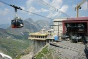 Die neue Bergstation Stand. (Bild: Philipp Unterschütz)
