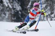 Aline Danioth bei einem FIS-Rennen in Sörenberg. Die 17-Jährige gilt als grosses Talent. (Bild Philipp Schmidli)