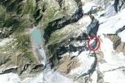 Der Felsenkessel am Hinter Tierberg, in dem die Absturzstelle liegt. (Bild: map.google.ch / Screenshot)