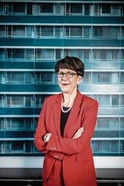 Konzernchefin Susanne Ruoff in ihrem Büro. (Bild: Nadia Schärli (Bern, 14. November 2017))