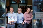 Wünschen sich längere Öffnungszeiten (von links): Simon Rohrer, Urs Schwerzmann und Patrick Mollet. (Bild Stefan Kaiser)