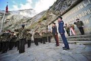 Die Suworow-Kadetten spielten die Landeshymnen Russlands und der Schweiz. (Bild Urs Hanhart)